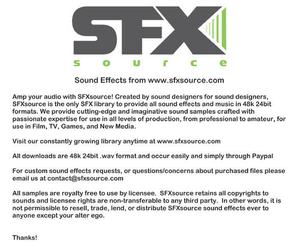 Pay for Sound effects: Squiggle 5