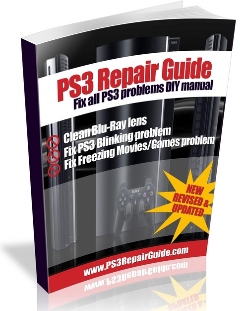 Pay for PS3 Repair Fix DIY PDF Guide Beep Blinking Red Light Fix dirt on Blu-Ray lens Bluetooth Controller Issues