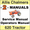Thumbnail Allis Chalmers 620 Tractor SERVICE & OPERATORS Manual -2- MANUALS - DOWNLOAD