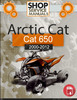 Thumbnail Arctic Cat 650 2000-2012 Service Repair Manual Download