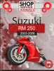 Thumbnail Suzuki RM 250 2003-2008 Service Repair Manual