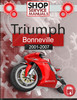 Thumbnail Triumph Bonneville 2001-2007 Service Repair Manual