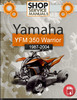 Thumbnail Yamaha ATV YFM 350 Warrior 1987-2004 Service Repair Manual