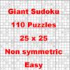 Thumbnail 110 Giant Sukoku Puzzles 25 x 25 Non Symmetric Easy