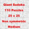 Thumbnail 110 Giant Sukoku Puzzles 25 x 25 Non Symmetric Medium
