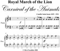 Thumbnail Royal March of the Lion Easy Piano Sheet Music