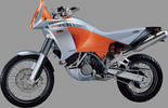 Thumbnail KTM 950LC8 Adventure Motorcycle Service & Repair Manual 2003 in German