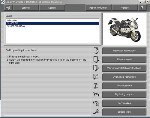 Pay for BMW S1000RR Motorcycle Service Manual (Multilingual)