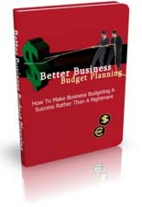 Pay for  Better Business Budget Planning  Comes with Master Resale R