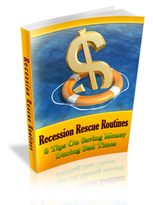 Pay for Recession Rescue Routines Comes with Master Resale Rights
