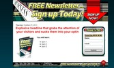 Thumbnail free newsletter squeeze page templates