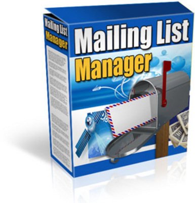 Pay for Mailing List Manager -manage your mailing list & newsletters