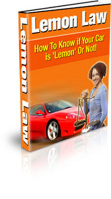 Pay for Lemon Law: How to Know if Your Car is a Lemon or Not (PLR)