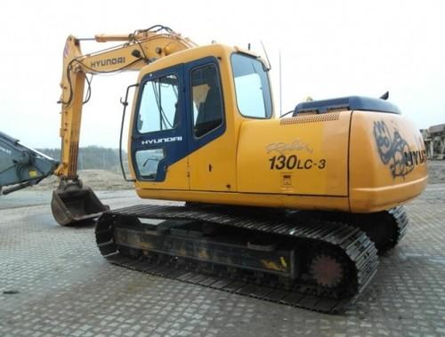 for Hyundai R130LC-3 Crawler Excavator Service Repair Workshop Manual ...