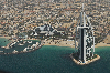 Thumbnail Dubai aerial view of the luxury hotel Burj al