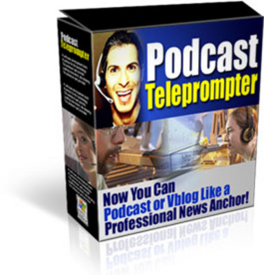 Pay for  PODCAST TELEPROMPTER mrr!
