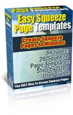 Pay for Easy Squeeze Page Templates PLR!