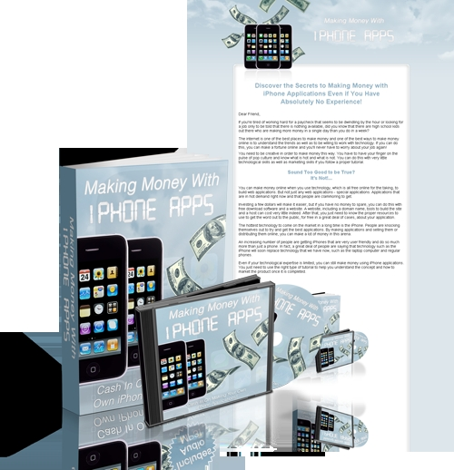 Pay for Making Money With iPhone Apps  with Master resell rights!