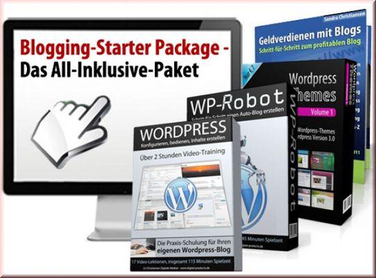 Pay for Blogging-Starter-Paket eBooks + Videokurse!