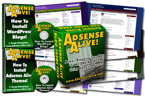 Pay for Adsense Alive Theme Pack For Wordpress Blogs Videos with MRR