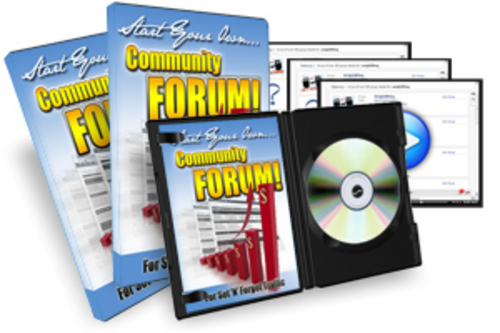 Pay for Start Your Own Community Forum Instruction Videos with MRR