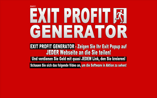 Pay for Easy Exit Profit Generator Software