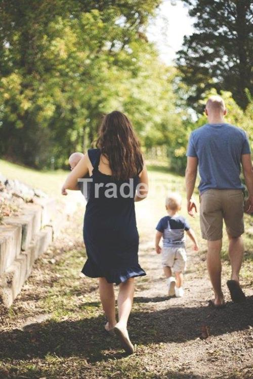 Pay for Young family father mother children