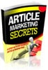 Thumbnail Article Marketing Secrets w/ Resell Rights