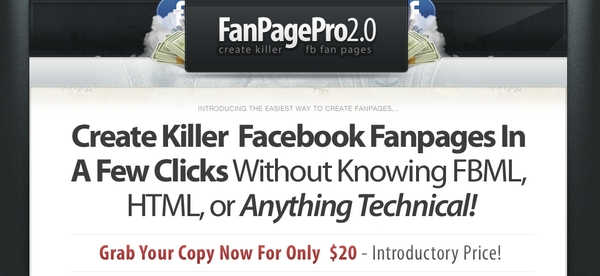 Pay for Facebook Fan Page Pro 2.0 - Full PLR w/ Sales Page & PSD