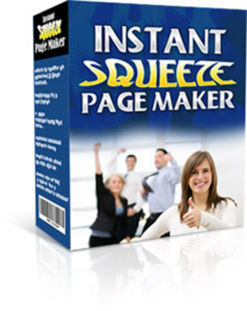 Pay for Instant Squeeze Page Maker With Master Resell Rights
