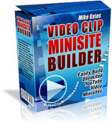 Pay for Video Clip Minisite Builder