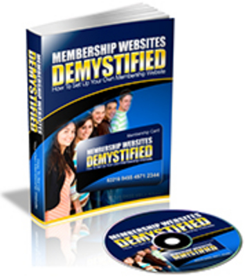 Pay for Membership Websites Demystified - MP3 & PDF