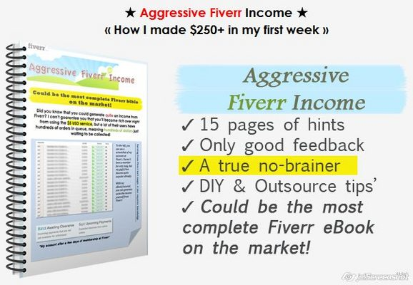 Pay for Aggressive Fiverr Income  How I made $250+ in my first week