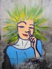 Thumbnail Girl Picking Nose - Street Art