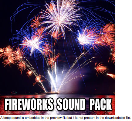 Pay for Fireworks Sound Effects - 30 Sound Pack