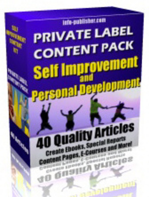 Pay for Personal Development PLR Articles
