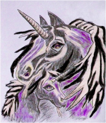 Pay for Royalty Free Image - Mother and Child Unicorn - With Master Resell Rights
