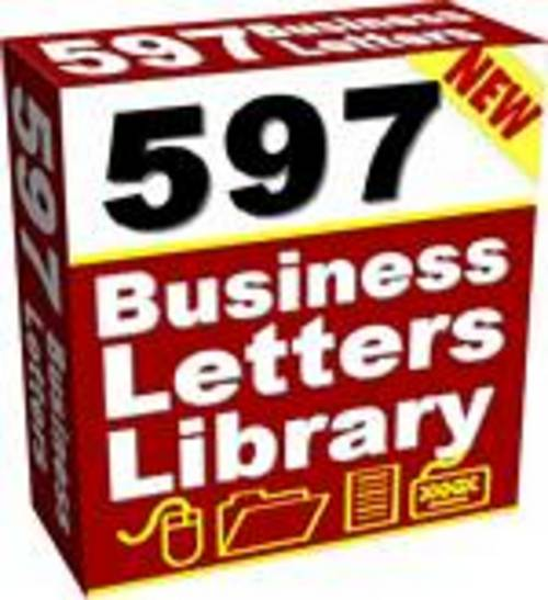 Pay for 597 Ready To Use Sales Letters and Business Forms . . .