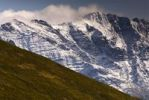 Thumbnail Snow-covered rock massif, mountain pasture, Namlos, Reutte, Tyrol, Austria, Europe