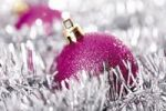 Thumbnail Pink glitter Christmas tree balls with Christmas decorations