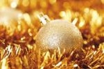 Thumbnail Gold glitter Christmas tree ball with Christmas decorations