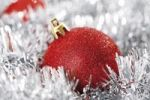 Thumbnail Red glitter Christmas tree ball with Christmas decorations