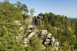 Thumbnail Rugged rocks near Rathen, Nationalpark Saxon Switzerland, Saxony, Germany, Europe