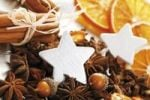 Thumbnail Christmas platter with decorative stars, cinnammon sticks, star anise and dried orange slices