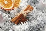 Thumbnail Cinnammon sticks and star anise on christmas decoration
