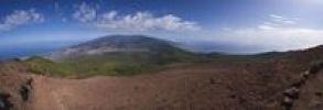 Thumbnail Panoramic view of Valle Aridane, Cumbre Nueva and Caldera de Taburiente from Pico Birigoyo, La Palma, Canary Islands, Spain, Europe