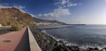 Thumbnail Panoramic view of the harbour mole of Santa Cruz de la Palma, La Palma, Canary Islands, Spain, Europe