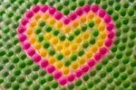 Thumbnail Multicolored heart of cupcake paper forms