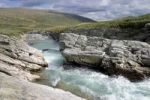 Thumbnail Stroplsjoedalen Valley with stream in Dovrefjell National Park, Norway, Scandinavia, Europe