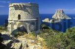 Thumbnail Ibiza, southwest coast, watchtower Torre des Savinar and Es Vedra island
